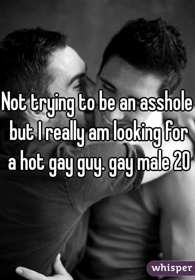 Not trying to be an asshole but I really am looking for a hot gay guy. gay male 20