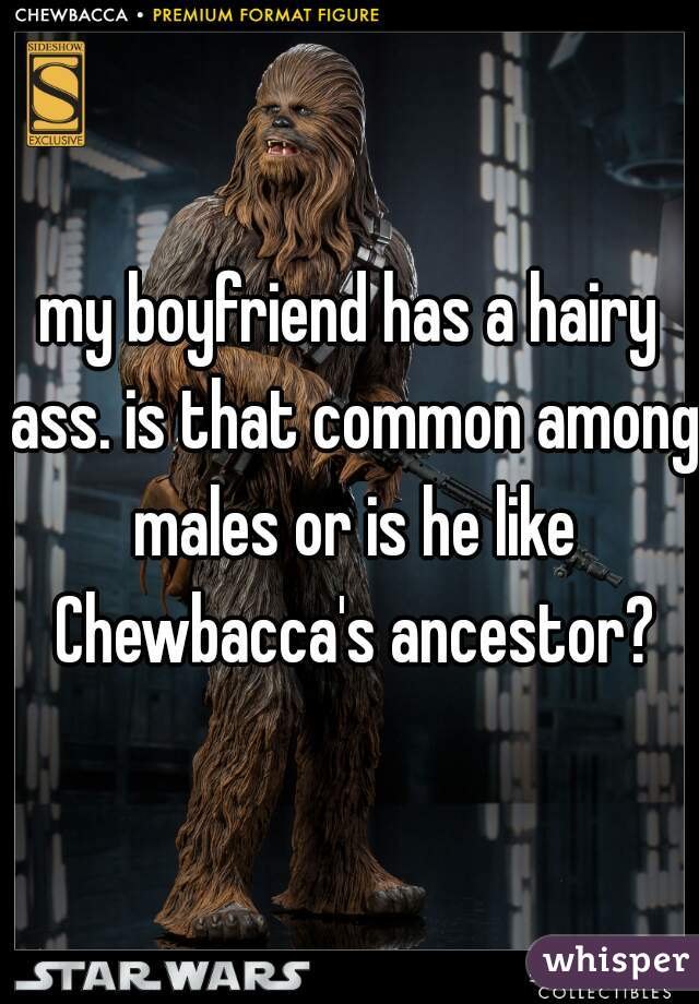 my boyfriend has a hairy ass. is that common among males or is he like Chewbacca's ancestor?