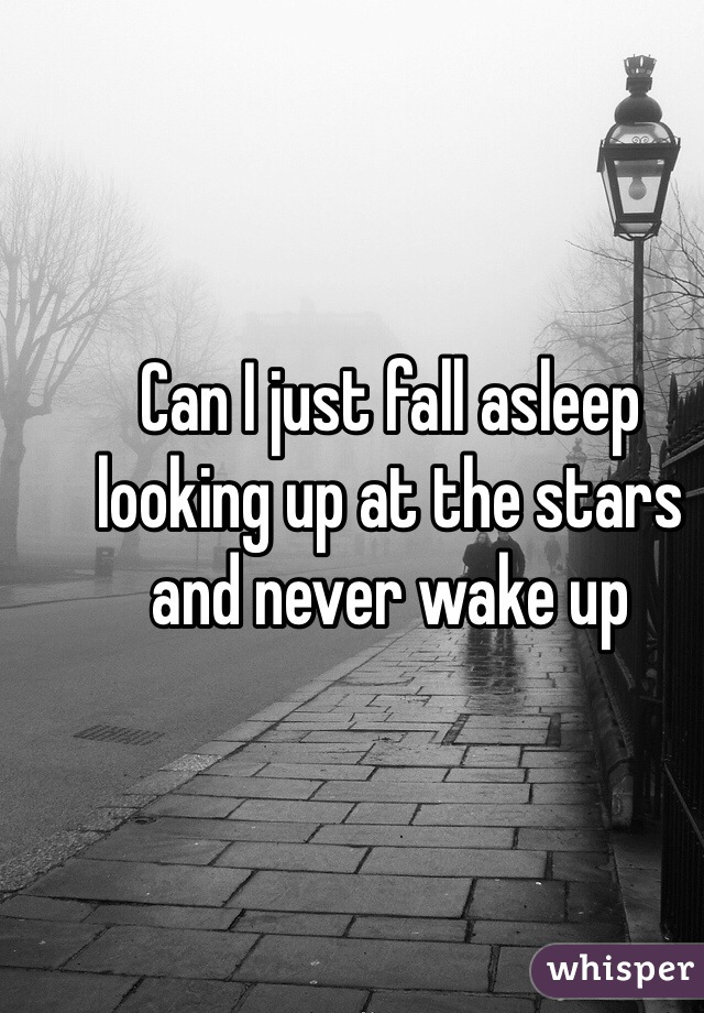 Can I just fall asleep looking up at the stars and never wake up