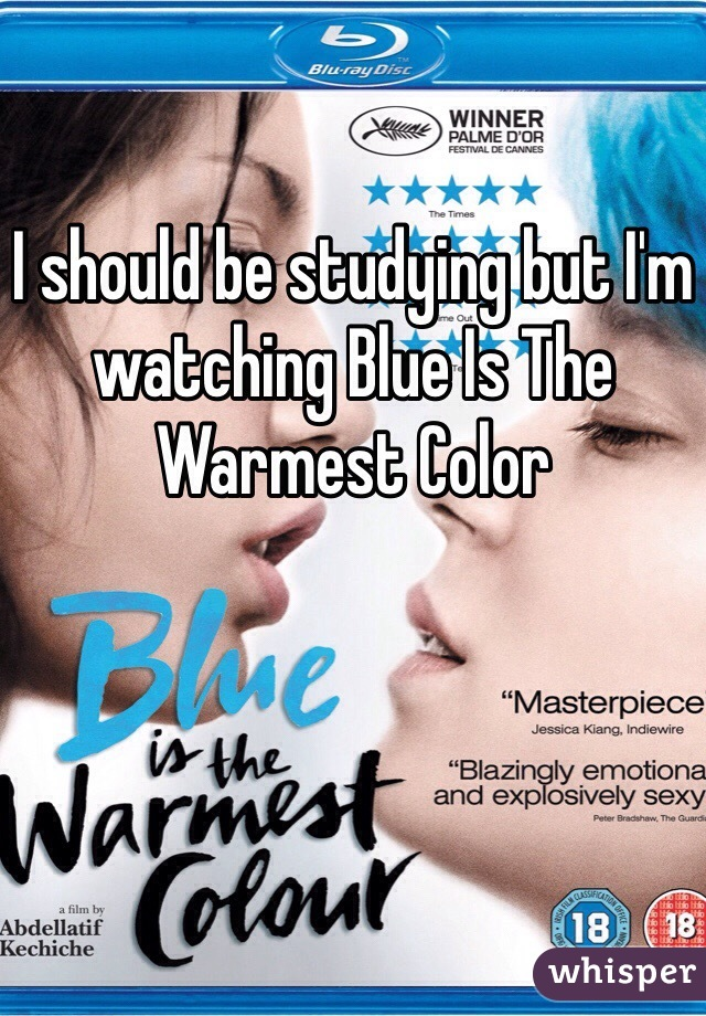 I should be studying but I'm watching Blue Is The Warmest Color