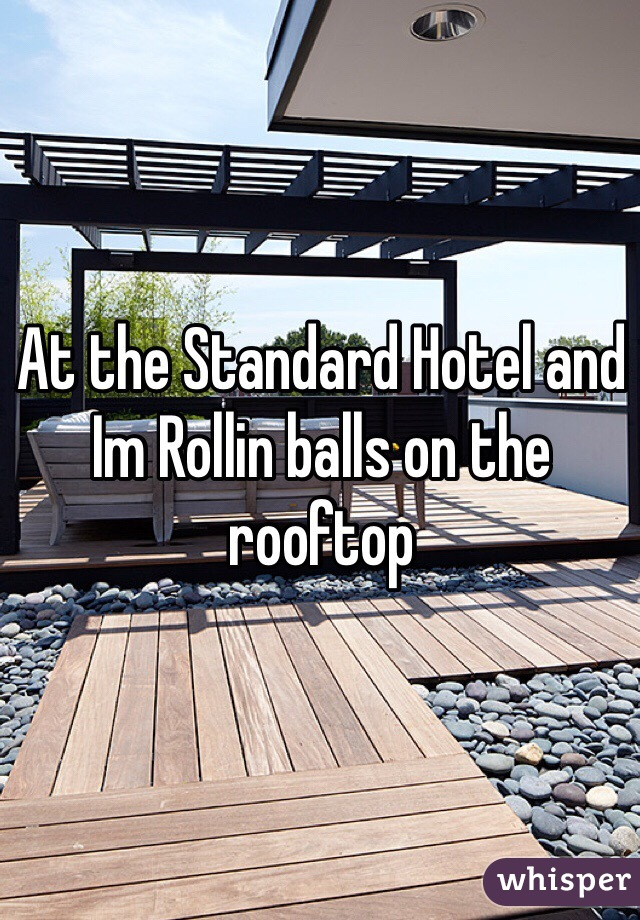 At the Standard Hotel and Im Rollin balls on the rooftop