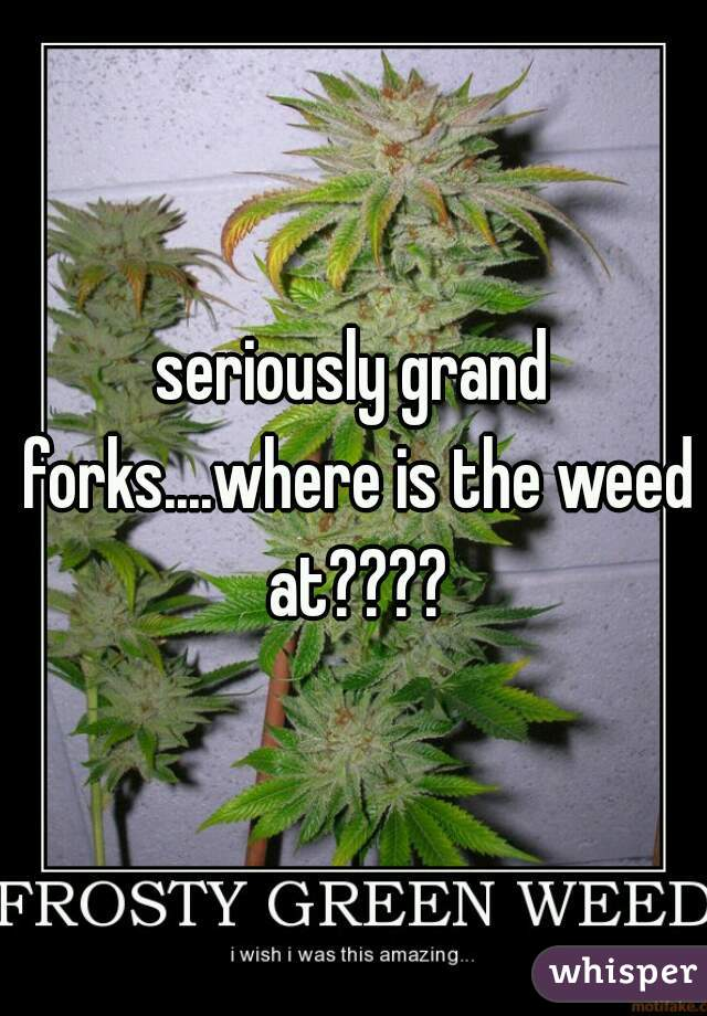 seriously grand forks....where is the weed at????