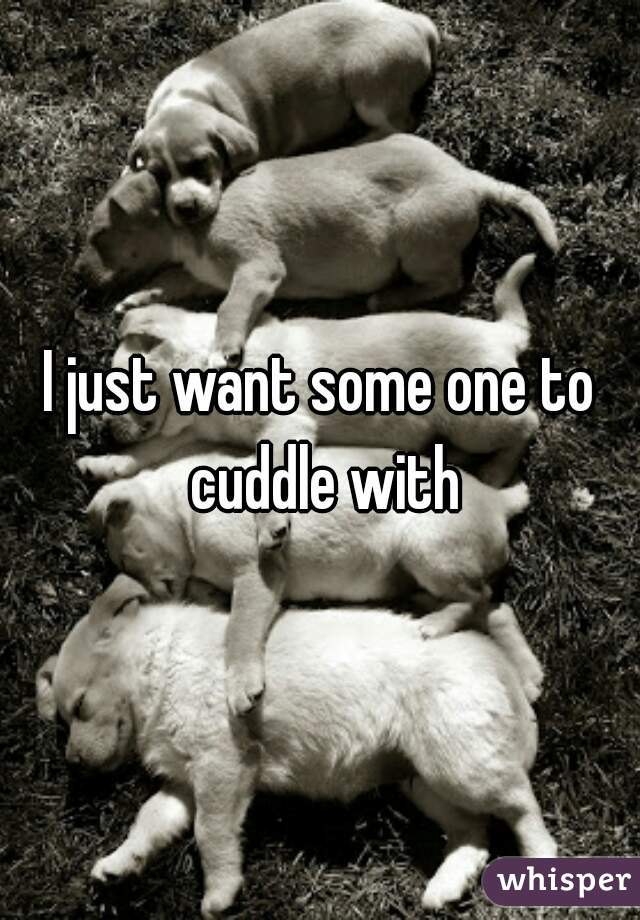I just want some one to cuddle with