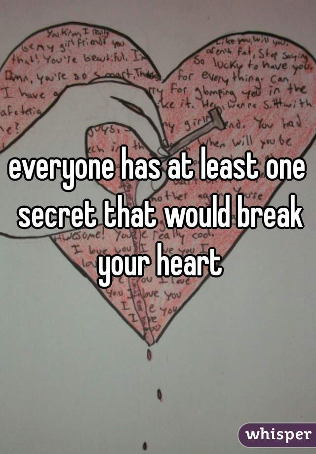 everyone has at least one secret that would break your heart