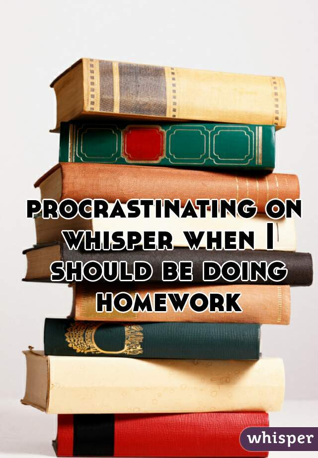 procrastinating on whisper when I should be doing homework