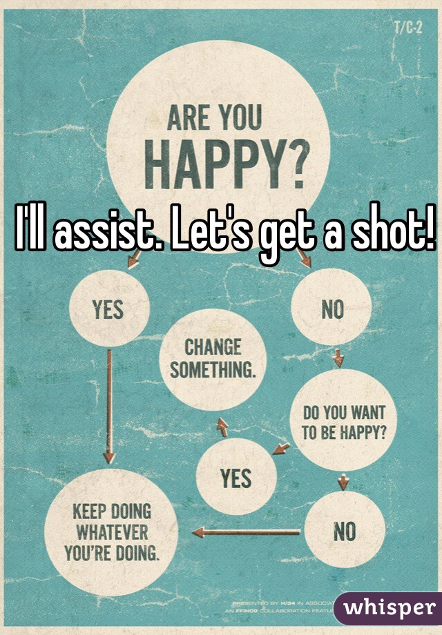 I'll assist. Let's get a shot!