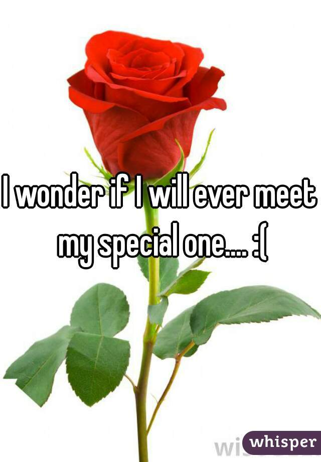 I wonder if I will ever meet my special one.... :(