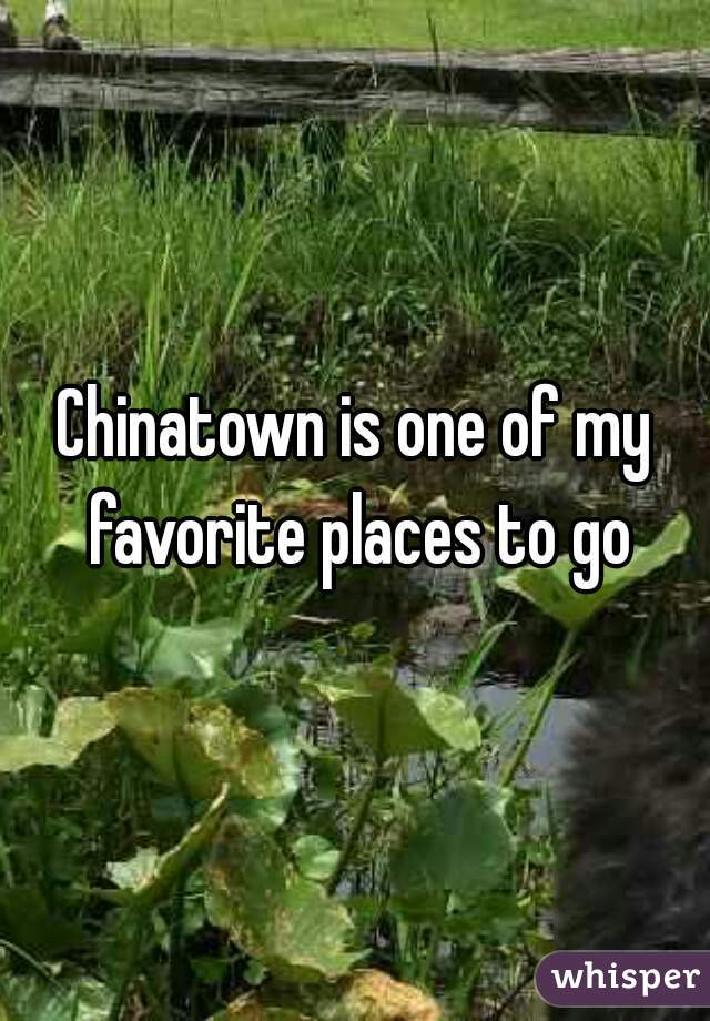 Chinatown is one of my favorite places to go