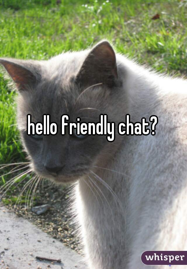 hello friendly chat?