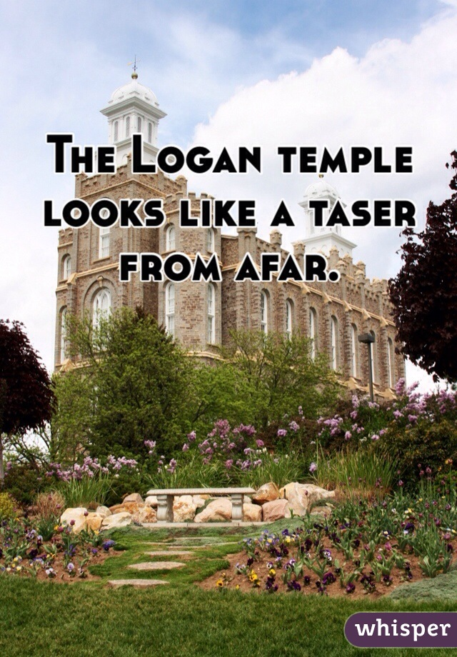 The Logan temple looks like a taser from afar.