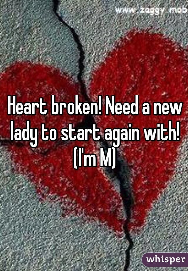 Heart broken! Need a new lady to start again with! (I'm M)