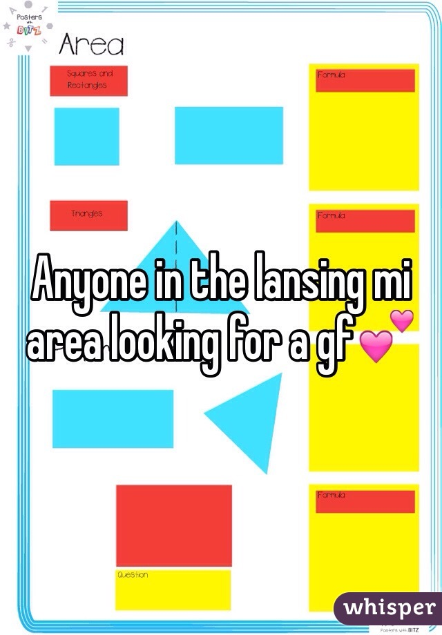 Anyone in the lansing mi area looking for a gf💕