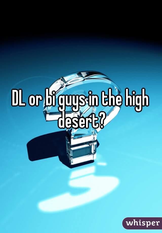 DL or bi guys in the high desert?