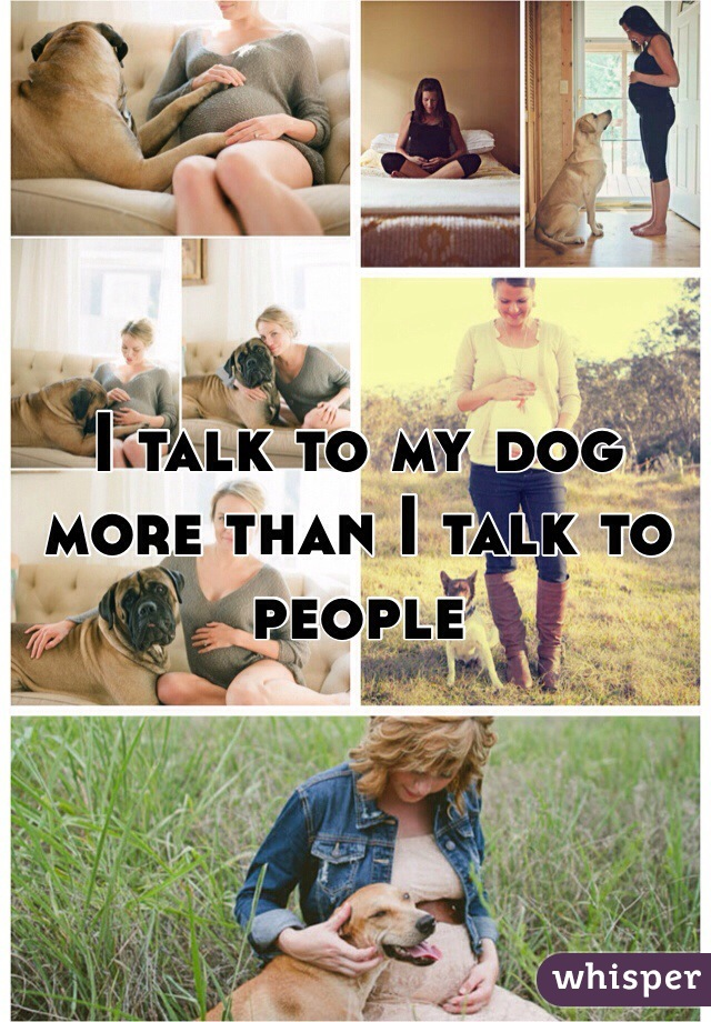 I talk to my dog more than I talk to people
