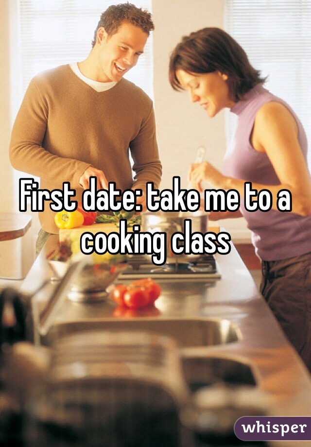 First date: take me to a cooking class