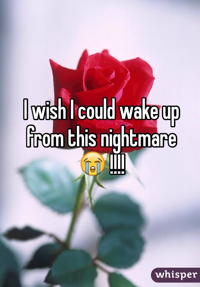 I wish I could wake up from this nightmare 😭 !!!!