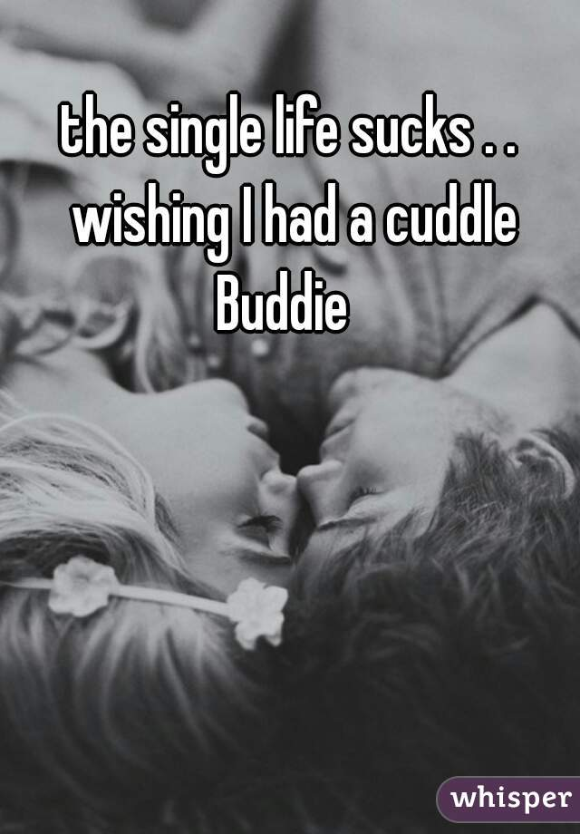 the single life sucks . . wishing I had a cuddle Buddie