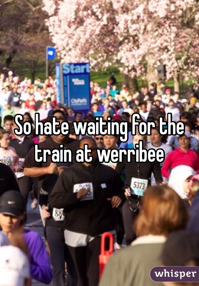 So hate waiting for the train at werribee