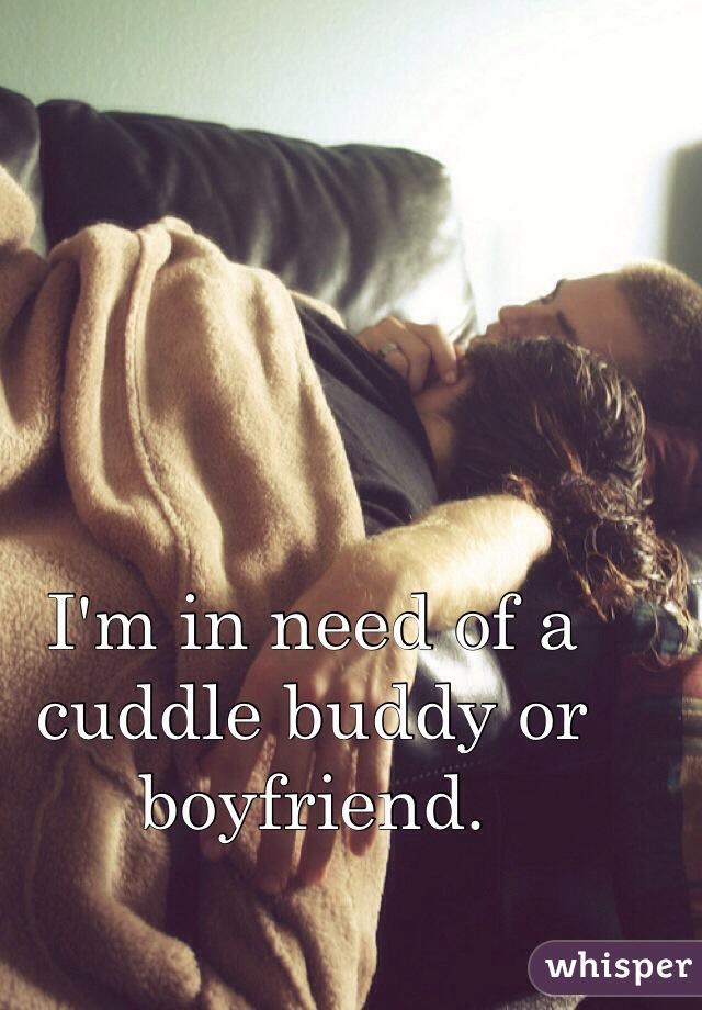 I'm in need of a cuddle buddy or boyfriend.