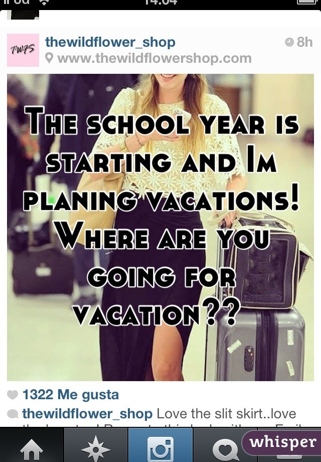The school year is starting and Im planing vacations!  Where are you going for vacation??