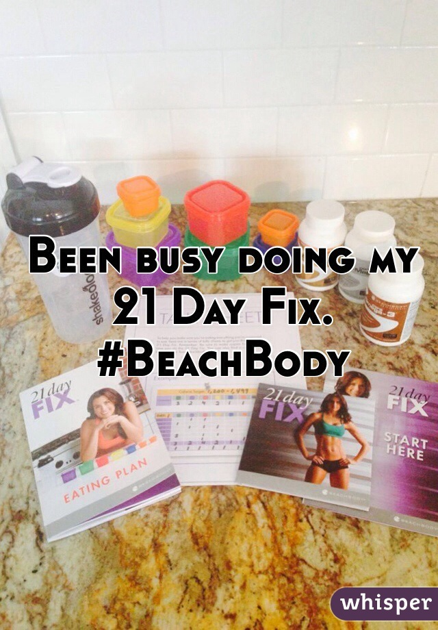 Been busy doing my 21 Day Fix. #BeachBody