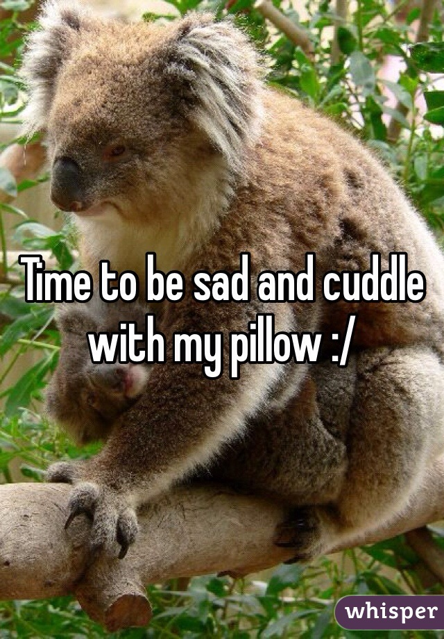 Time to be sad and cuddle with my pillow :/
