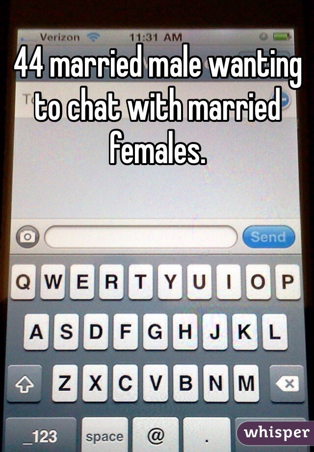 44 married male wanting to chat with married females.