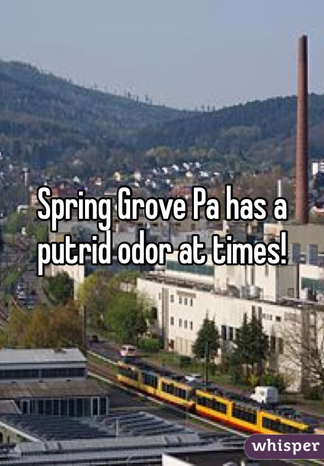 Spring Grove Pa has a putrid odor at times!