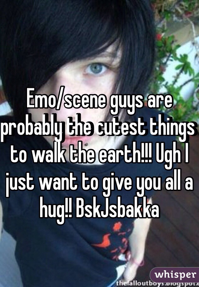 Emo/scene guys are probably the cutest things to walk the earth!!! Ugh I just want to give you all a hug!! BskJsbakka