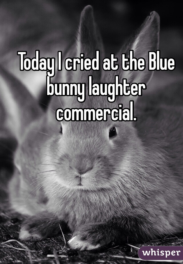 Today I cried at the Blue bunny laughter commercial.