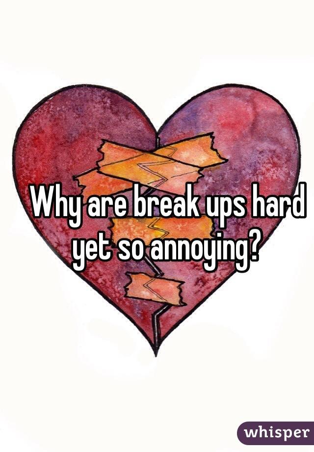 Why are break ups hard yet so annoying?