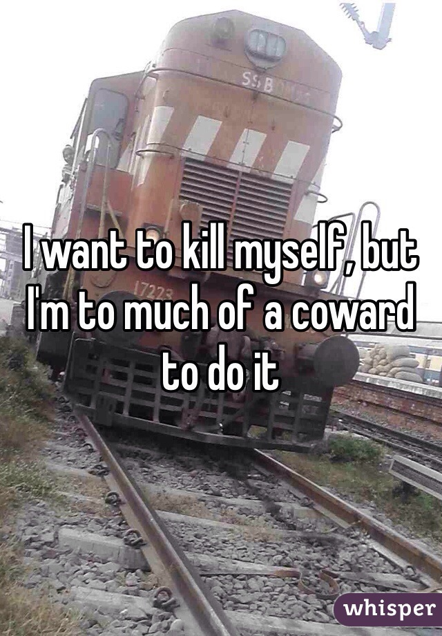 I want to kill myself, but I'm to much of a coward to do it