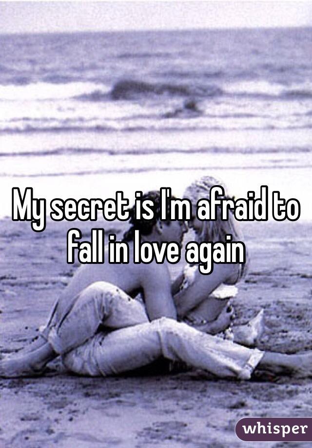 My secret is I'm afraid to fall in love again