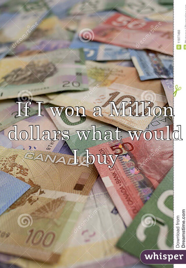 If I won a Million dollars what would I buy