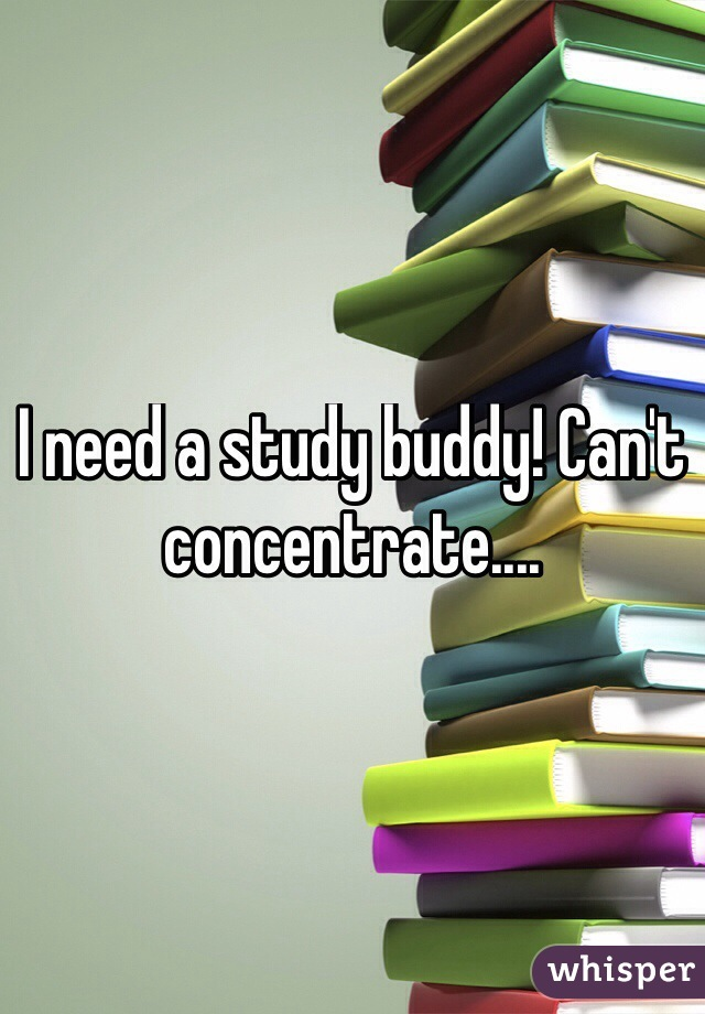 I need a study buddy! Can't concentrate....