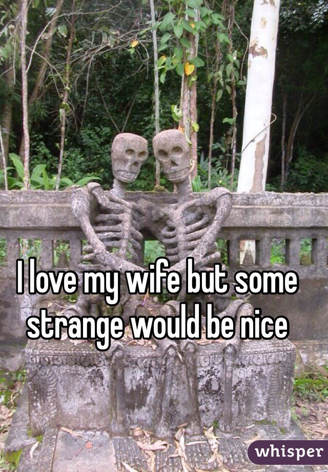 I love my wife but some strange would be nice