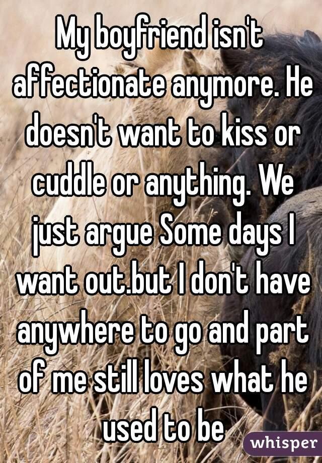 My boyfriend isn t affectionate
