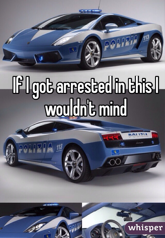 If I got arrested in this I wouldn't mind