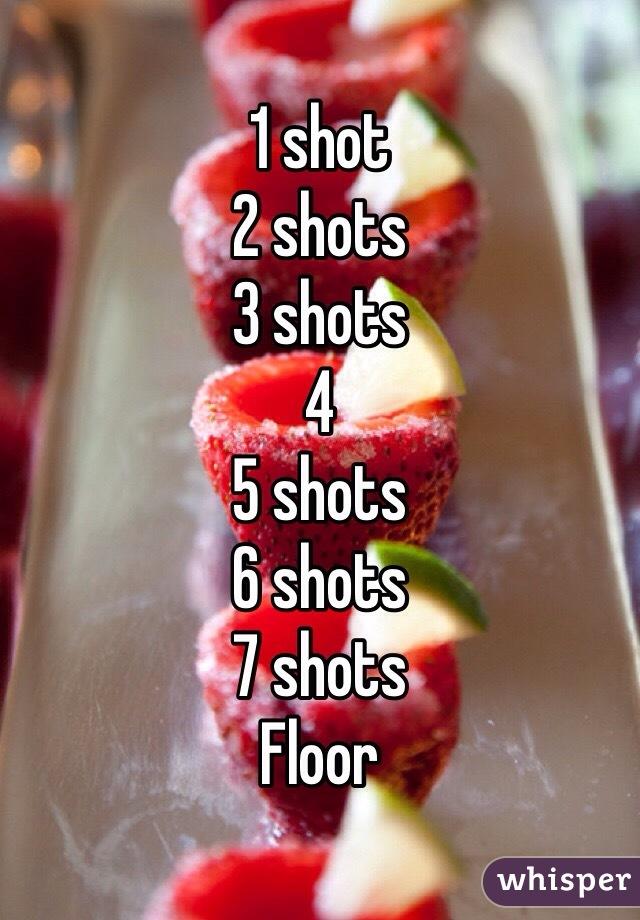 1 shot 2 shots 3 shots 4 5 shots 6 shots  7 shots Floor