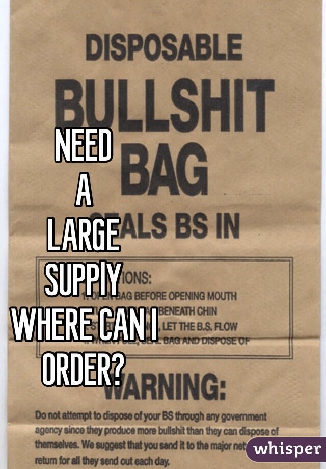 NEED A LARGE  SUPPlY WHERE CAN I ORDER?
