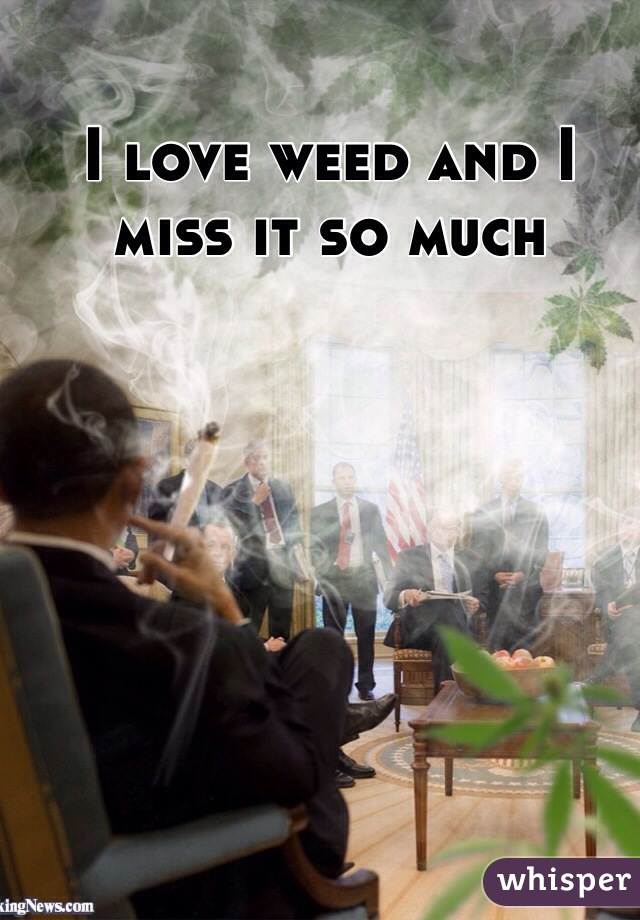 I love weed and I miss it so much