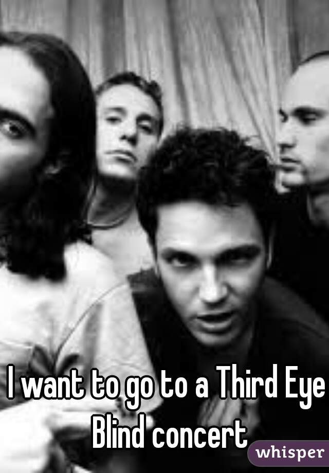 I want to go to a Third Eye Blind concert