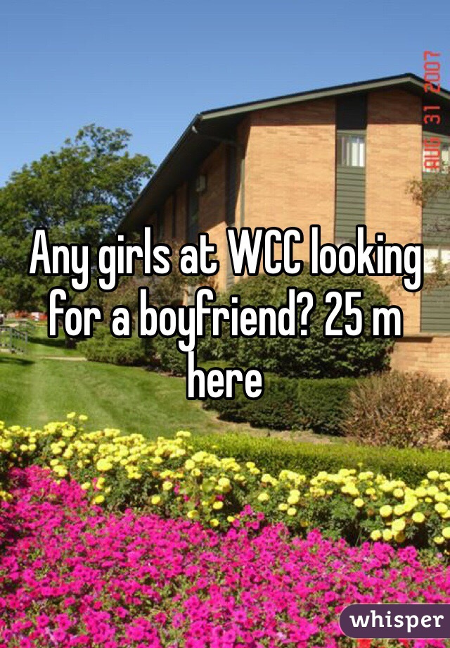 Any girls at WCC looking for a boyfriend? 25 m here
