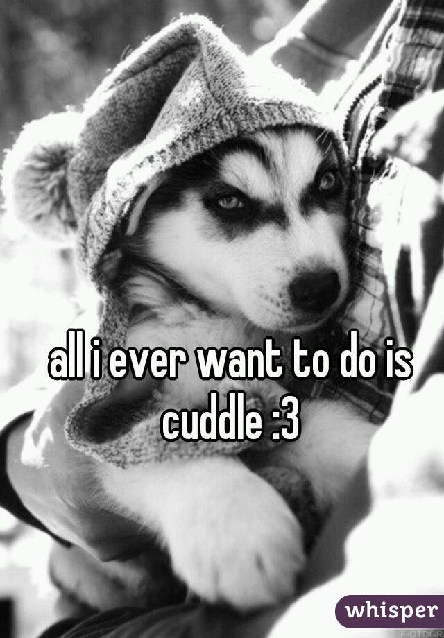 all i ever want to do is cuddle :3