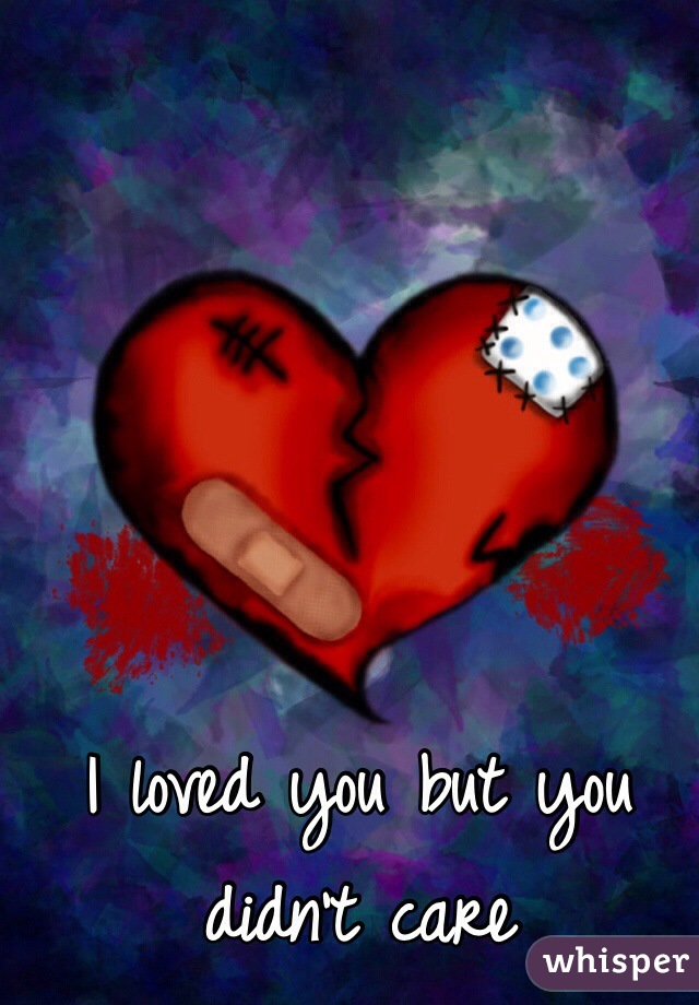 I loved you but you didn't care