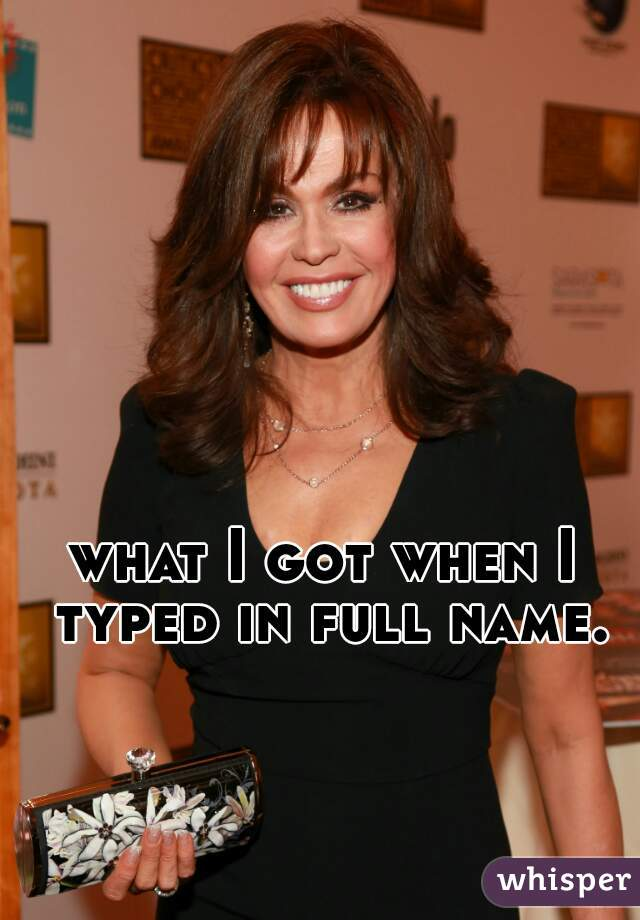 what I got when I typed in full name.