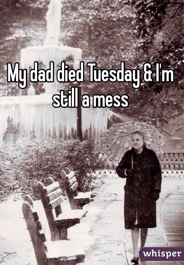 My dad died Tuesday & I'm still a mess