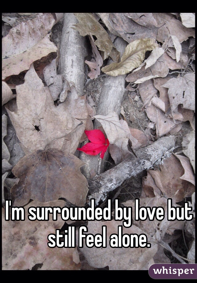 I'm surrounded by love but still feel alone.