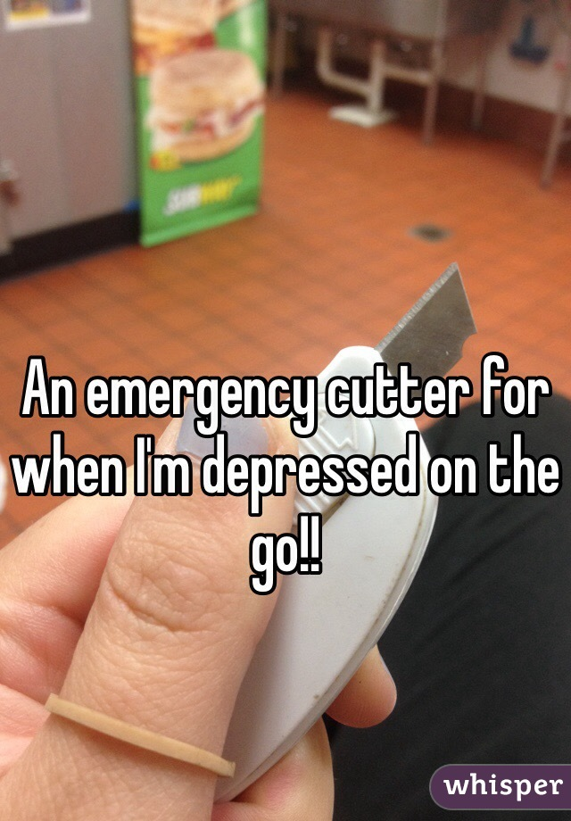 An emergency cutter for when I'm depressed on the go!!