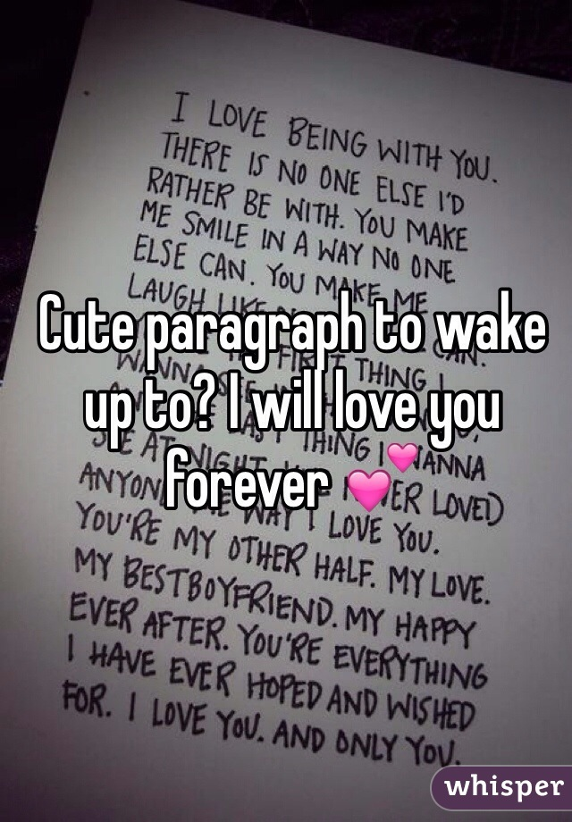 how much i love you paragraph